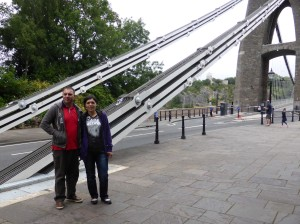 Andrei & Eugenia on Clifton Suspension Bridge