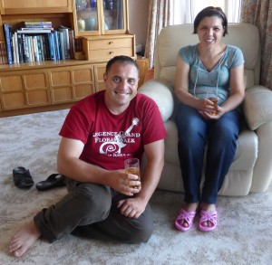 Andrei and Eugenia arrive in Stockwood, July 2014