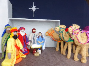 """Knitivity"" background figures projected with Stargazers."